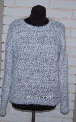 Пушистый свитер Атмосфера светло серый М