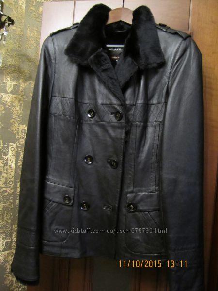 дубленка  куртка   кожа  мех турция  р S-М