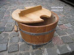 Запарник дубовый для веников круглой и овальной формы для бани