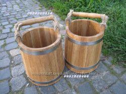 Ведро дубовое для бани, другая банная утварь