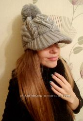 Теплые, стильные шапки