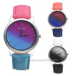 Часы Oktime двухцветные разные