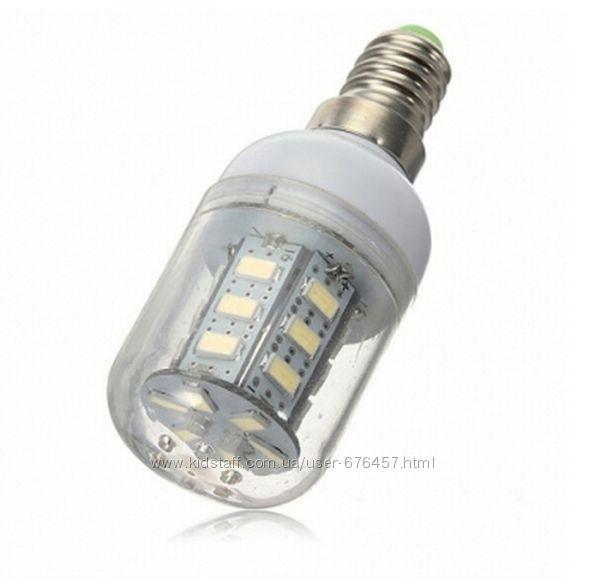 Светодиодная лампа 24 LED E14 Е27 7W SMD 5730 лампочка