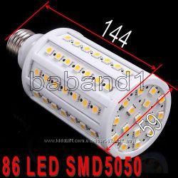 Светодиодная лампа 86 LED E27 15W 5050 лампочка