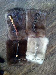чехлы для мобильного и брелки из меха норки