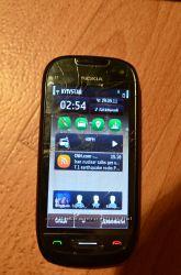 Nokia C7-00 Charcoal Black  комплект аксессуаров  тачскрин.