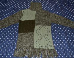 Свитер с бахромой плотной вязки  в стиле пэчворк Promod