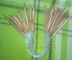 Бамбуковые круговые спицы 40 см - набор 18 шт.