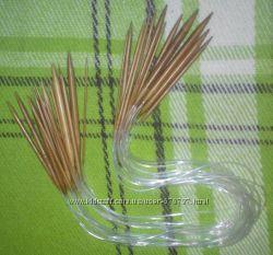 Бамбуковые круговые спицы 80 см - набор 18 шт.