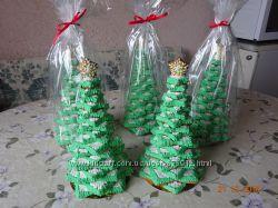 Большие елочки из имбирного, медового пряника, печенья