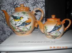 Фарфоровые чайники Птицы