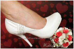 Шикарные свадебные туфли RIMA в отличном состоянии