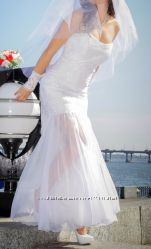 Очень красивое и нежное свадебное платье для дюймовочки