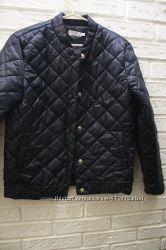 Демисезонная стеганая куртка синяя зеленая бежевая