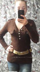 жіночий коричневий светр, кофта