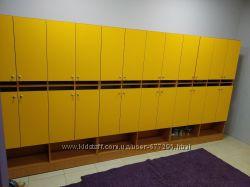 Двухъярусные шкафчики для оборудования дошкольных учреждений