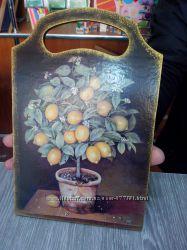 Панно досточка Лимонное дерево