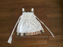 Очень красивое белое платье, сарафан реплика burberry