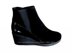 79. акция, женские  зимние ботинки с верхом из натуральной замши, к1734