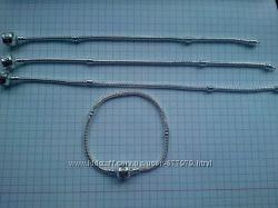 Посеребрённая основа для браслетов Пандора