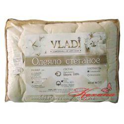 Одеяло шерстяное стеганое Vladi светло-бежевое