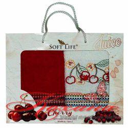 Набор полотенец кухонных Soft Life с фруктами