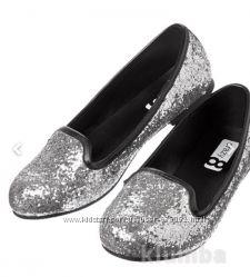 Лоферы, мокасины, туфли  девочке 27, 28 размер  Америка