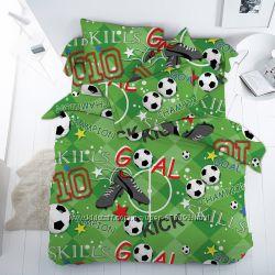 Постельное белье для мальчиков - футбольная тематика 100 хлопок