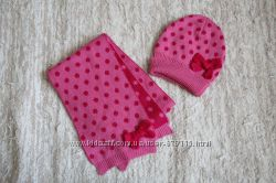 Комплект шапочка-шарф на девочку