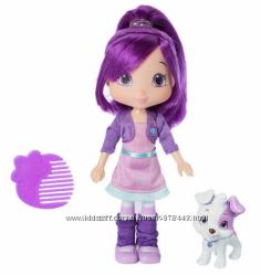 Кукла Шарлотта Земляничка - Сливка с питомцем, 15 см