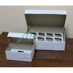 Упаковка коробки для капкейков, кейкпопсов, макарон