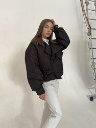 Короткая черная демисезонная куртка, курточка женская в стиле оверсайз