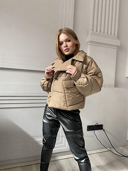 Женская короткая демисезонная куртка, укороченная курточка в стиле оверсайз