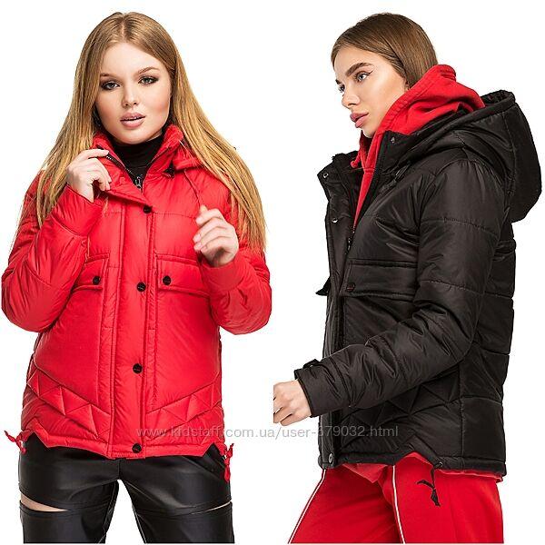 Стильная стеганная женская деми  куртка в расцветках размеры 44-54