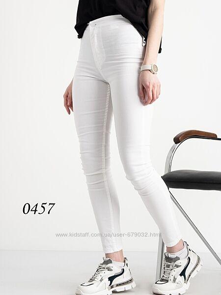 Летняя белая американка, джинсы женские скинни с высокой посадкой