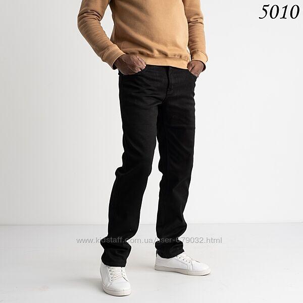 Черные мужские утепленные джинсы на флисе джинсы р 29-38