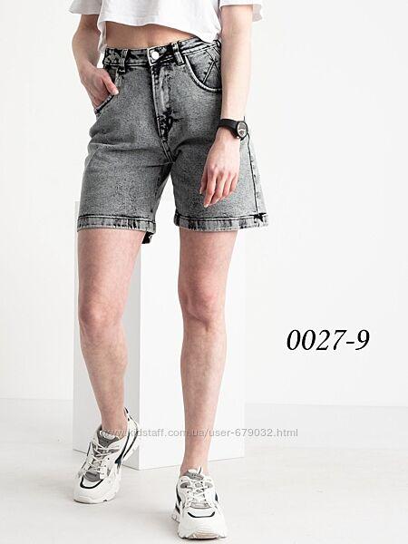 Удлиненные женские джинсовые шорты р 25-30
