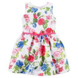 Нарядное белое в цветочек платье на девочку Картерс Carters