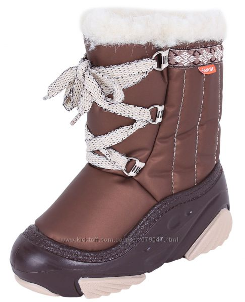 Детская зимняя обувь 20-29 размер Demar Joy коричневые