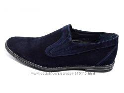 Туфли Замшевые Van Kristi 354. Синии и черные.