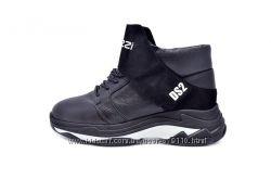 Ботинки кожаные женские зимние Ditas L218 Black