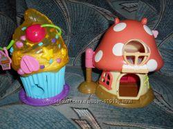 Домик для маленьких фигурок куколок cupcake Hello Kitty грибок кексик