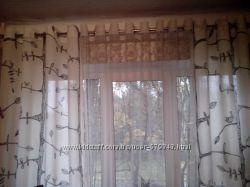 Пошив штор и тюлей на люверсах