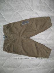Вельветовые штанишки на подкладке р. 68-74