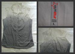 Джинсовая рубашка безрукавка NEW YORKER