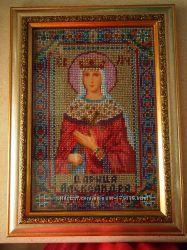 Подарок для Александры - бисерная икона Царица Александра