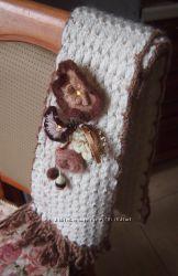 шарф из мохера с цветами