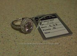 кольцо аметист фианиты  16
