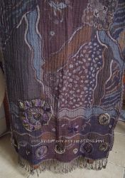 итальянский шарф-палантин шерсть