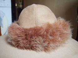 шапка из овчины, капюшон от дубленки